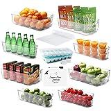 Etienne Alair Organizer-16 PC Refrigerator Organizer Fridge Stackable Clear Storage Pantry or Freezer Bins, 16 Piece Set