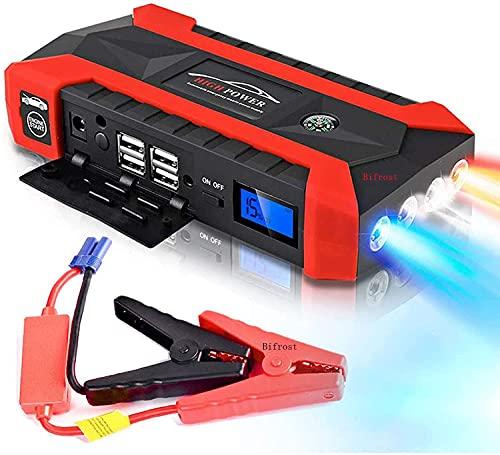 Bifrost Multifunktions Auto Starthilfe 12V 4USB 600A Tragbares Autobatterieladegerät Notstart Energienbank Werkzeugsatz