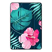 Sepikey iPad mini 4/iPad mini タブレットケース, 落下抵抗 指紋防止 三つ折 PC + PU 衝撃防止 三つ折タイプ タブレットケース iPad mini 4/iPad mini Case-黒花2