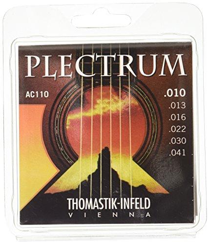 Thomastik 669307 Plectrum Phosphor Bronze Acoustic Guitar Strings10-41 Extra Lt