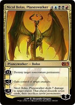 Magic  the Gathering - Nicol Bolas Planeswalker  199  - Magic 2013 - Foil
