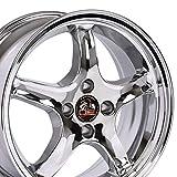 OE Wheels LLC 17 inch Rim Fits Ford Mustang Cobra R Wheel FR04A 17x9 Chrome Wheel