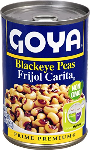 Goya Foods Canned Blackeye Peas, 16-Ounce (Pack of 24)