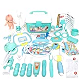 Niños Doctor Kit 48PCS Pretend Pretend la Enfermera del Doctor Juguetes-n-Play Médico Juguetes Set Azul con Carry Caja para Regalos de cumpleaños de los niños de Vacaciones