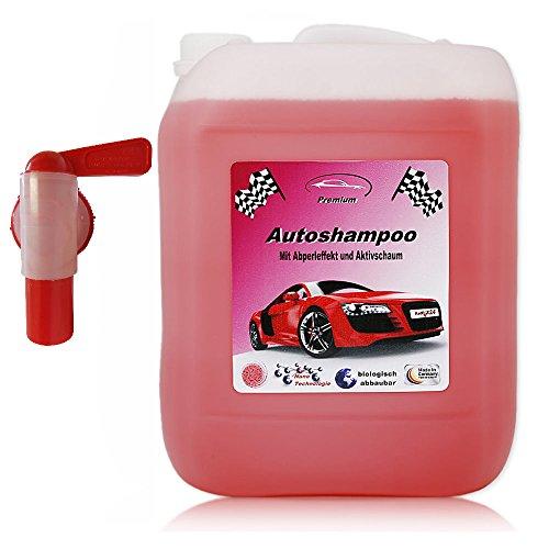 RedFOX24 10 Liter Professional Premium Autoshampoo Konzentrat mit Abfüllhahn, Abperleffekt & Aktivschaum