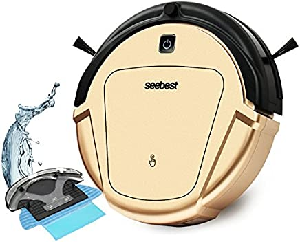 seebest Robot Vacuum Cleaner with Gyroscope Navigation and Wet Mopping Robot Aspirador D750