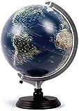 World Globeuilt-in Topográfico Globeuilt-in - Luz LED para visión nocturna para el aprendizaje educación, enseñanza, demostración, decoración de escritorio en casa