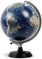 世界のグローバルな起伏のある地形と地形、LED常夜灯、学習、教育、教育プレゼンテーション、ホームオフィス、机の装飾