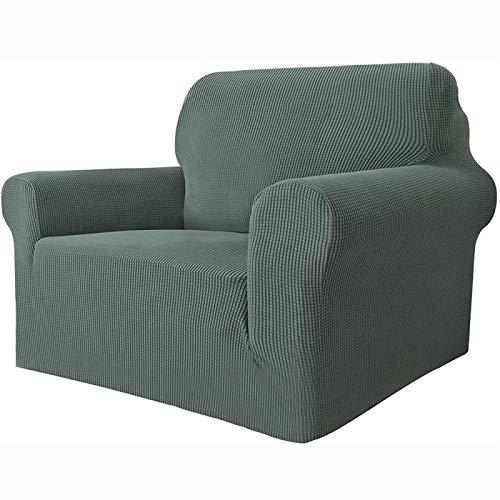 YUY Funda gruesa para sofá de punto, universal, elástica, impermeable, fácil de instalar, alta elasticidad, duradera, para un solo asiento, color verde