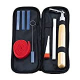 Professional Piano Tuning Kit, 9pcs Commonly Used Piano Tuning Tools Including 8pcs Tools and Portable Case, for Tuning Beginner and Professional Tuner (9pcs pack)