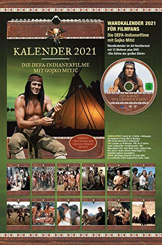 """Gojko Mitic - Wandkalender 2021 DIN A4 (+ DVD """"Die Söhne der großen Bärin"""")"""