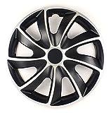 NRM Radzierblende Quad Bicolor schwarz/Silber 13 Zoll 4er Set