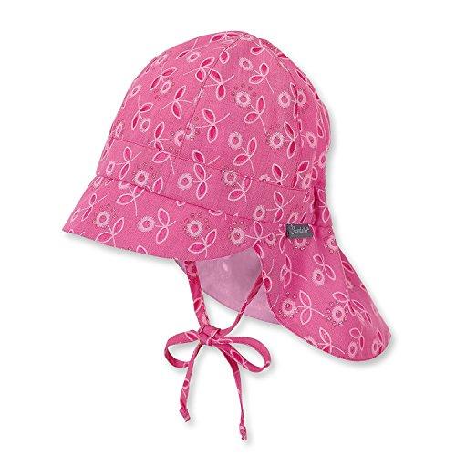 Sterntaler - Mädchen Sommerhut zum Binden Blumen mit Glitzer, pink - 1411825, Größe 51