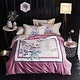 yaonuli Herbst und Winter Dicke Baumwolle ökologischen Schleifen Vier Sätze von Baumwolle Bettbezug Bettwäsche Satz von Vier: 2,0-2,2 Meter Bett: Bettbezug: 220 * 240 Blatt: 245 * 270