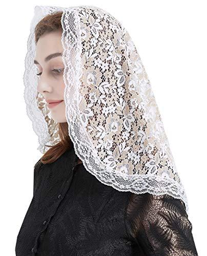 Spitze Kirchenschleier Kopfbedeckung, lateinische Masse -  -  Einheitsgröße