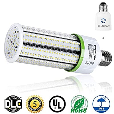 60W Commercial Grade Corn LED Light Bulb(200W Metal Halide/HID/HPS Replacement) - E26/E39 Large Mogul Base LED Bulbs - 5000K 8120 Lumens IP64 for Garage Warehouse High Bay Street Lighting - UL&DLC
