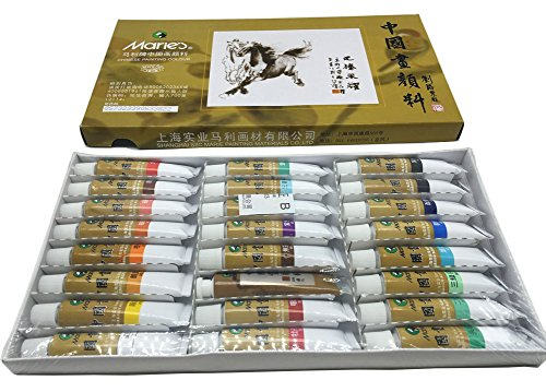Easyou Marie's Chinese Painting Color Tubes Pigment Big Size Watercolor Set 12ml24colors