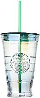 海外 Starbucks Aurora glass coldcup 473ml スターバックス グラスコールドカップ 韓国スタバ [海外直送品]
