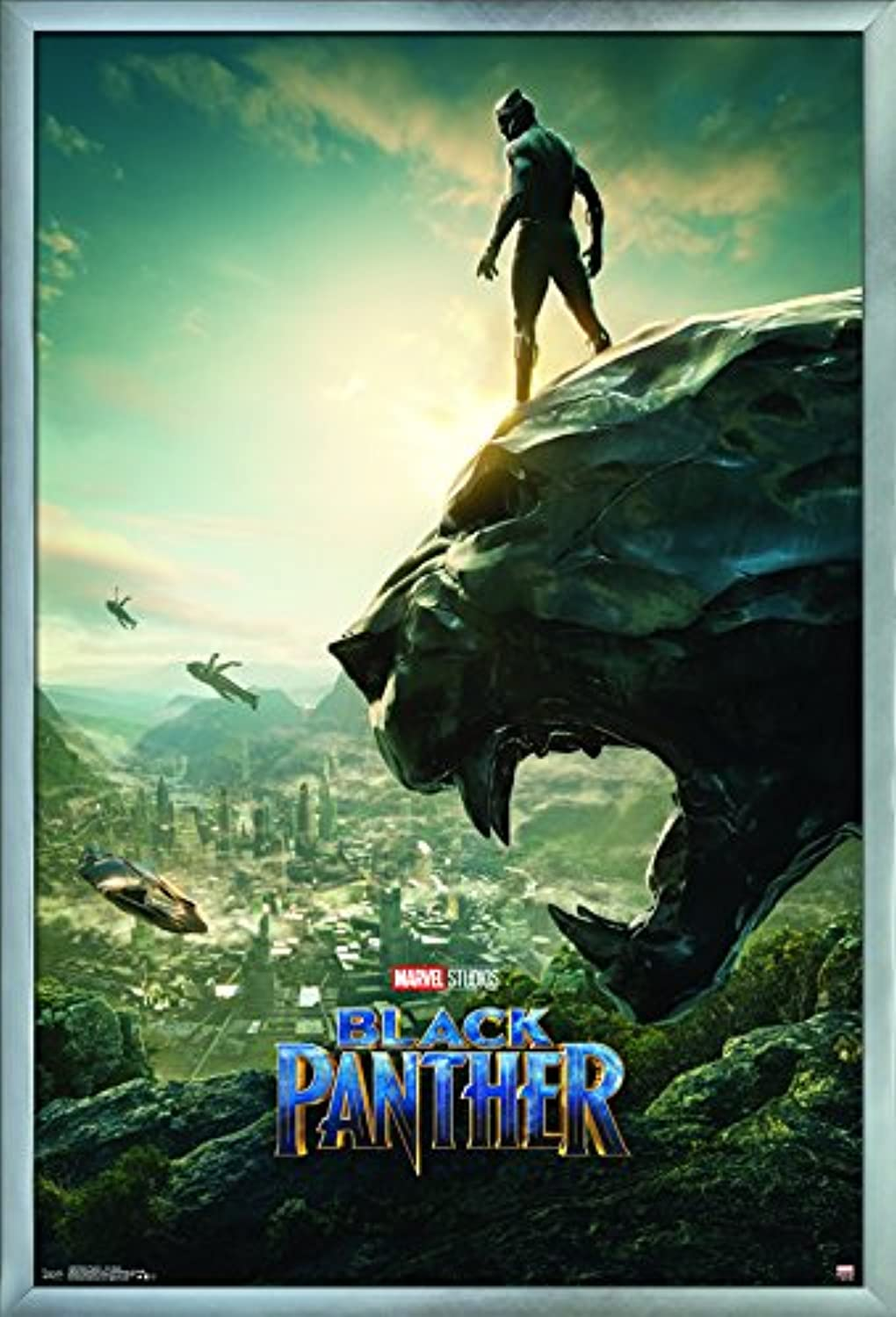 Trends International Black Panther-One Sheet Wall Poster, 24.25  X 35.75 , Multicolor