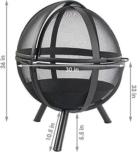 51fOI3vnktL - SGSG Feuerstelle, multifunktionale Feuerstelle im Freien 30 Zoll runden Holzofen Hinterhof und Patio Firepi für Camping Picknickgarten