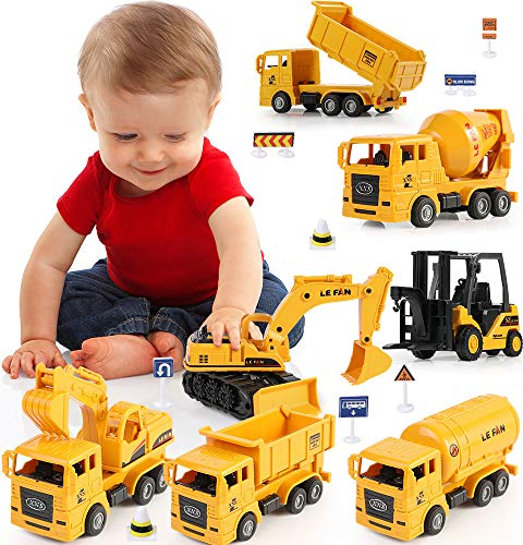 Spielsachen Spielzeugautos Auto Spielzeug Set Baufahrzeuge Traktor Bulldozer Kipper Zementmischer Geschenk für Baby Kinder ab 1 2 3 Jahre