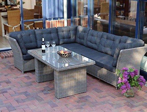 """Lounge \""""Auckland\"""" Gartenmöbel mit Polster inkl. Sofa Tisch Loungemöbel Loungesofa Dininglounge Loungesofa Gartensofa Esssofa Gartenmöbel Terassensofa"""