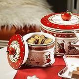 Villeroy & Boch Winter Bakery Delight Kleine Vorratsdose für Gebäck, Premium Porzellan, bunt - 2