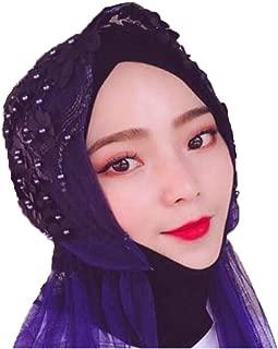 XHNMAO Muslim Headscarf, Fashion Shawl, Hui Gauze Gauze Tying Cap, Islamic Full Covered Shawl Cap, Standard Size, Blue, Pink, Light Blue (Color : Light blue, Size : 30 * 49cm)