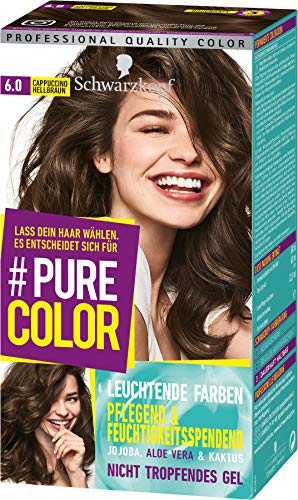 SCHWARZKOPF #PURE COLOR Coloration 6.0 Cappuccino Hellbraun Stufe 3, 1er Pack (1 x 143 ml)