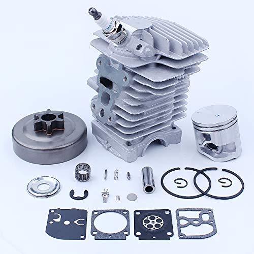 Mtanlo 40MM Kit de Pistón de Cilindro de Gran Calibre, Cubierta de Piñón, Cojinete de Reparación de Carburador para Stihl MS211 MS181 MS171 MS171C MS181C MS211C, Piezas de Reparación de Motosierra