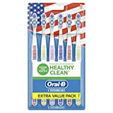 Oral-b Healthy Clean Toothbrushes, Medium Bristles, 6 Count(Assorted colors)