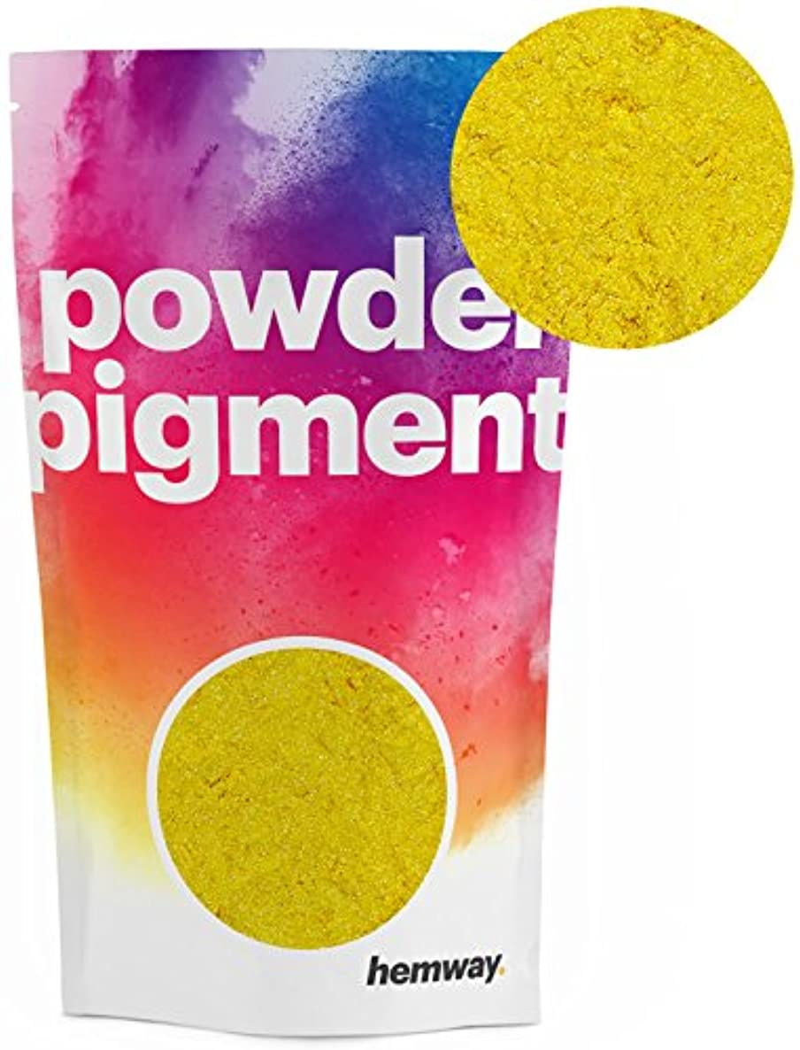Hemway Pigment Powder Colour Luxury Ultra-Sparkle Dye Metallic Pigments for Epoxy Resin, Polyurethane Paint (Metallic Mustard Yellow, 50g / 1.75oz)