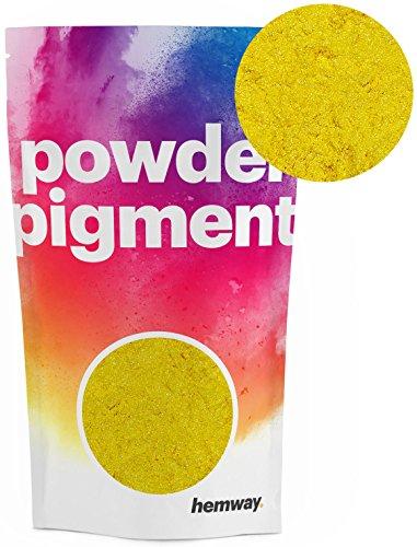Hemway Pigment Poeder Kleur Luxe Ultra-Sparkle Kleurstof Metallic Pigmenten voor Epoxy hars, Polyurethaan Verf 100g Metallic Mosterd Geel