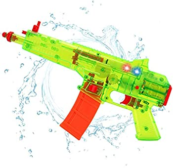 Battery Operated Motorized Automatic Electric Super Water Gun Soaker Blaster Kids Toy  Green