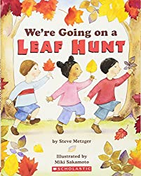 We're going on a leaf hunt. Autumn Themed Books for Preschoolers and children.
