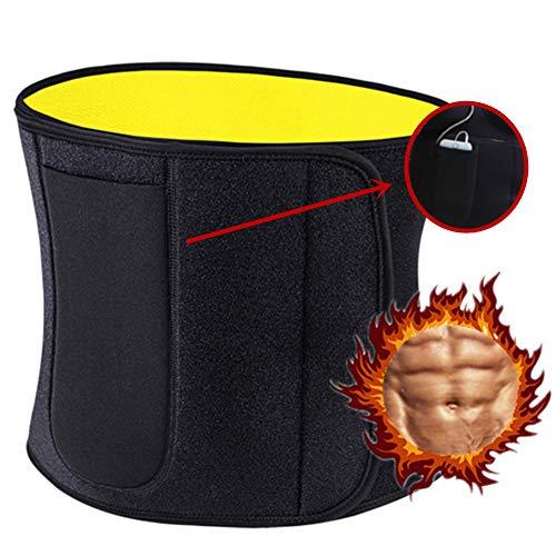 Cintura Dimagrante, Fascia Addominale Dimagrante, Brucia Grassi, Regolabile, Postures Corrector Cintura Upper Back Pain Relief, Protegge Schiena e Lombare (Nero)