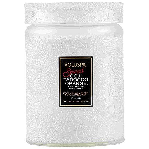 VOLUSPA Large Jar Candle Spiced Goji TAROCCO ORANGE