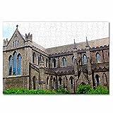 Irlanda Catedral de Dublín Rompecabezas para Adultos, 300 Piezas, Rompecabezas de Madera para niños, Regalo de Viaje, Recuerdo, 16.5 × 12 Pulgadas