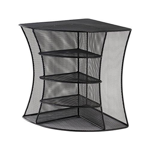 Safco products onyx mesh corner organizer 3261bl, black powder coat...