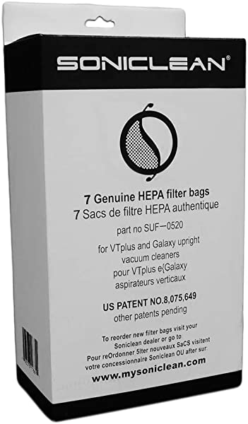 Soniclean Upright HEPA Filter Bags
