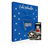 Adventskalender, Weihnachtskalender deines Bundesliga Lieblingsvereins - Plus gratis Sticker & Lesezeichen Wir Lieben Fußball (Hertha BSC Berlin Premium)