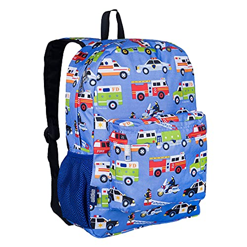 Wildkin 16 Inch Kids Backpack for Boys & Girls, 600-Denier Polyester Backpack for Kids, Features Padded Back & Adjustable Strap, Perfect for School & Travel Backpacks, BPA-Free (Heroes)