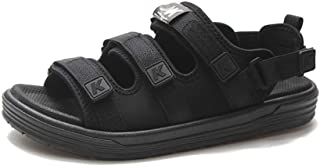 SHANLEE Men's Synthetic Leather Open-Toe Sports Sandals