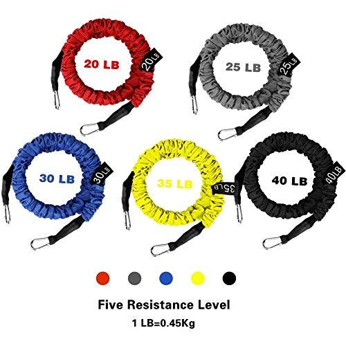 5 Cuerdas Elásticas de Fitness WEINAS Set de...