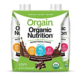 Orgain Organic Nutritional Shake, Creamy Chocolate Fudge - Meal Replacement, 16g Protein, 21 Vitamin