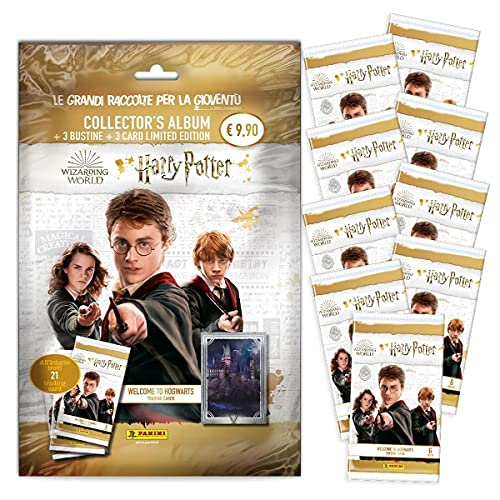 """Harry Potter """"Welcome to Hogwarts"""" Trading card Super Pack [raccoglitore + 12 Bustine]"""