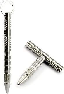 Splumzer Compact Heavy Duty Premium Stainless Tungsten Steel Defender Defensive Tactical Pen Glassbreaker Military or Police Outdoor Survival Tool Keychain.