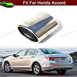 New 1pcs Stainless Steel Tailpipe Exhaust Muffler Tail Pipe Tip Silver Custom Fit for Honda Accord 2008 2009 2010 2011 2012 2013 2014 2015 2016 2017 2018 2019 2020 2021