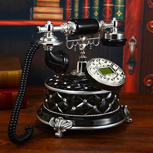 DHFDHD Teléfono Antiguo Teléfonos con botón de teléfono Casa en Escritorio del hogar Decoración de teléfono Retro Antiguo de la Vendimia