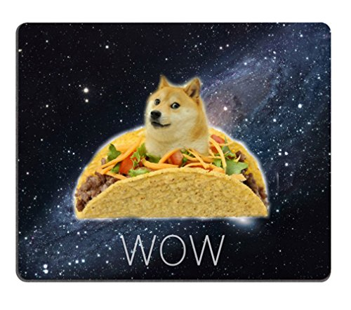 """Funny Doge in a Chicken Rolls Rubber Mouse Pad Mousepad with Designs 9.84""""x7.87"""""""